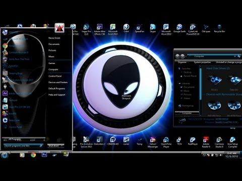 Windows 7 Theme - Alienware skinpack