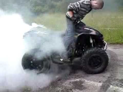 Can am Renegade 800 X burnout