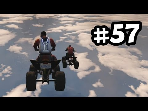Grand Theft Auto 5 Part 57 Walkthrough Gameplay - Quad Bike & Cargo Plane = Epicness