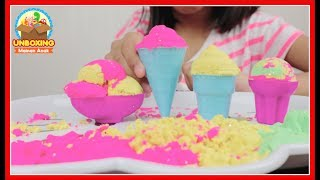Mainan Anak Kinetic Sand ICE CREAM - PASIR AJAIB Warna Warni DIY Ice Cream