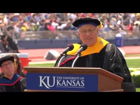 Wes Jackson at KU Commencement 2013