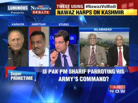 The Newshour  Debate: Nawaz Sharif Vs Narendra Modi - Part 1 (14th August 2014)