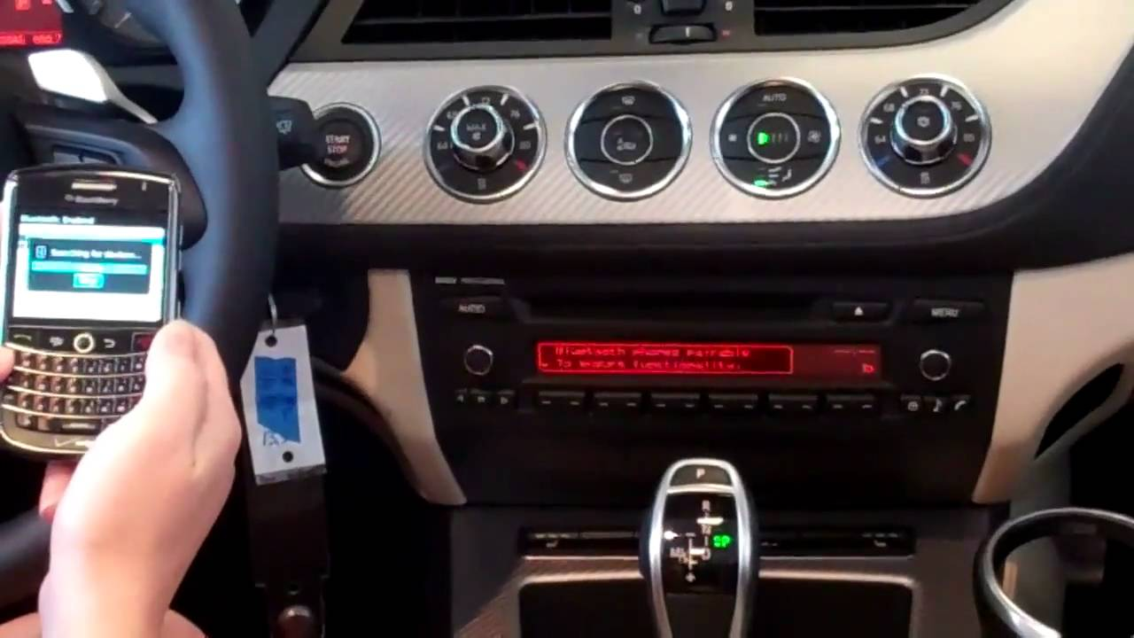 bmw bluetooth pairing with a blackberry youtube. Black Bedroom Furniture Sets. Home Design Ideas