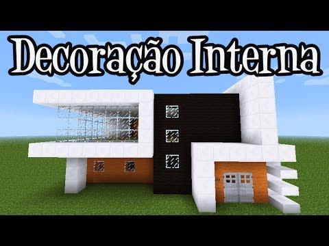 Tutoriais Minecraft: Decoração Interna da Casa Moderna 5