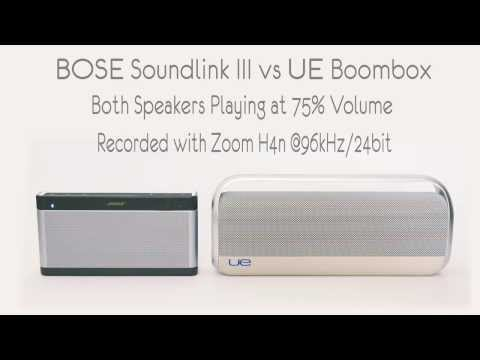 Bose Soundlink III vs UE Boombox Sound Comparison