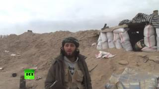 Al Nusra commander & reporter hit by mortar fire filming interview