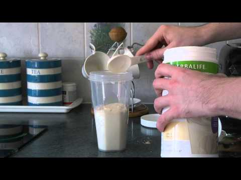How to make a Herbalife Formula 1 meal replacement shake