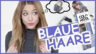 BLAUE HAARE in 2 MINUTEN mit COLORISTA I TOTALER FAIL? LIVE TEST