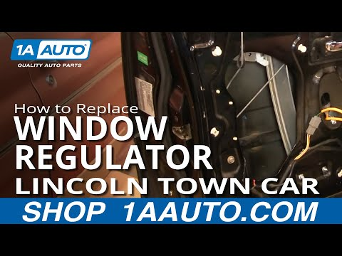 How To Replace Install Power Window Regulator Without Motor PART 2 Lincoln Town Car 98-02 1AAuto.com