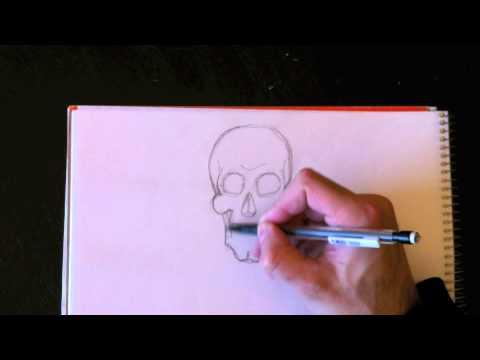 Dessiner une t te de squelette avec paolo morrone youtube - Dessiner un squelette ...