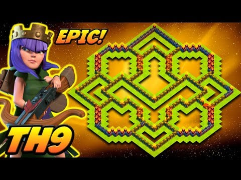 CLASH OF CLANS | TH9 TROPHY BASE 2017! | BEST TOWN HALL 9 TROPHY BASE EVER!