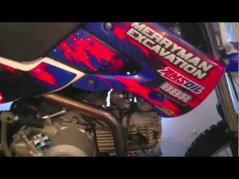 kawasaki klx 110 big bore mod 143 pit bike