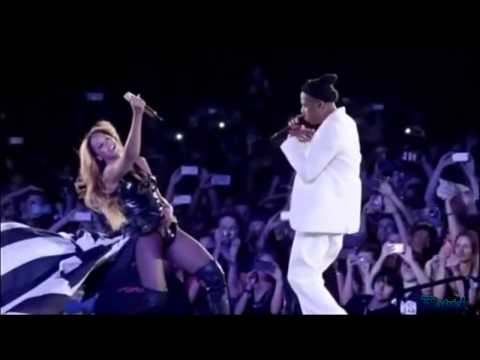 "Beyonce And Jay Z ""Forever Young"" ""Halo""Paris Stade de France On The Run Tour.【HD】."