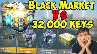Black Market Vs 32,000 Keys & Super Chest & War Robots Royale WR