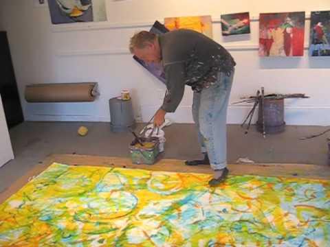 Robert Burridge Paints 30 Foot Painting As A Fundraiser