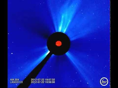 Explosive !  1859 Carrington Event  just missed Earth  July 23 2012