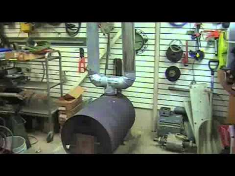DIY wood stove heat transfer