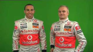 Outtakes of Lewis Hamilton and Heikki Kovalainen