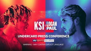 KSI VS LOGAN PAUL 2 | LIVE UNDERCARD PRESS CONFERENCE