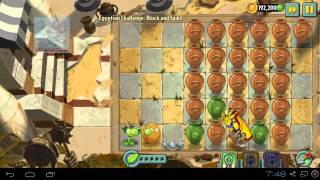 Plants vs Zombies 2 - VaseBreaker Egyptian Challenge Pack level Plants vs Zombies 2 vasebreaker update