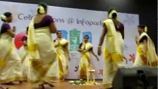 Infopark Onam celebrations 2012 Thiruvathira Second Prize Calpine [UVJ] Technologies