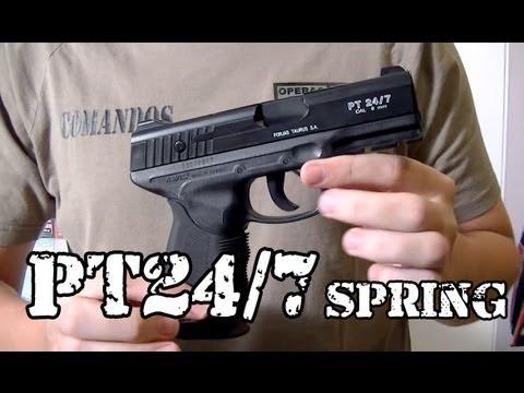 Vendo Airsoft - Pistola PT 24/7 Taurus SPRING - Legalizada Brasil