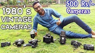 VINTAGE CAMERAS OF INDIA DURING 1980's & 1990's | Vivitar, Yashika, Polaroid, Kodak, Konica, Pentax