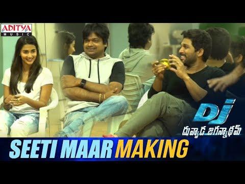Seeti Maar Song Making || DJ Song Promos || Allu Arjun, Pooja Hegde, Harish Shankar || DSP