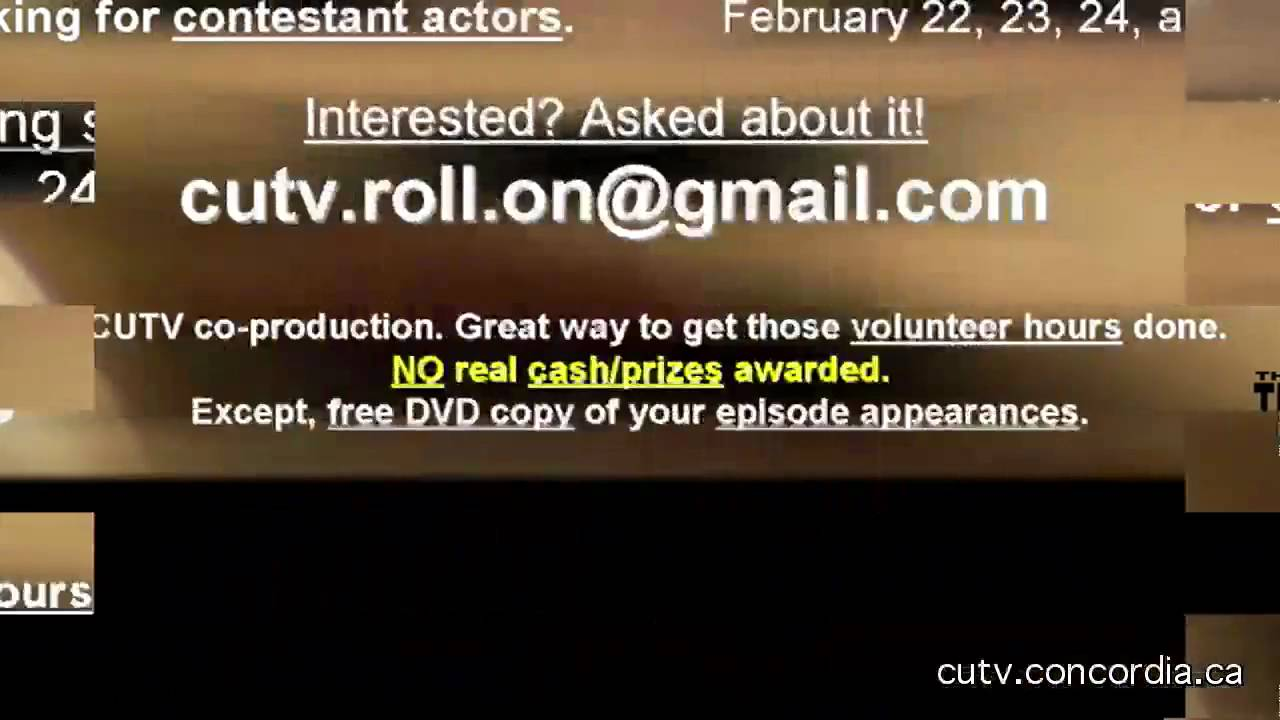 ADV for Roll On CUTV Game Show