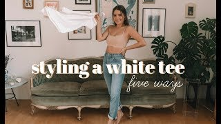 STYLING A WHITE TEE | 5 Outfit Ideas