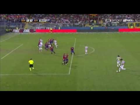 Genoa - Juventus 2-2 Il gol annullato a Iaquinta
