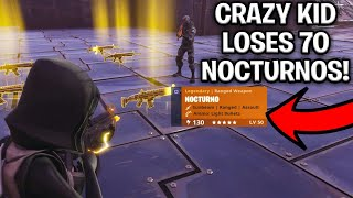 Crazy Noob Loses 70 Nocturnos! (Scammer Gets Scammed) Fortnite Save The World