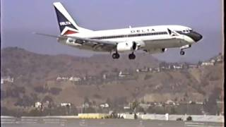 Plane Spotting at BUR (1991)