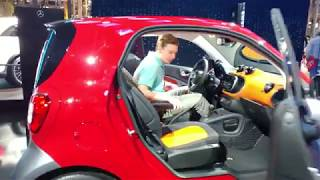 2020 METALLIC PEWTER MERCEDES BENZ SMART FORTWO COUPE ELECTRIC CAR @ 2019 NY AUTO SHOW
