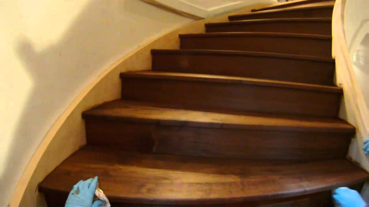Staining Stairs Youtube