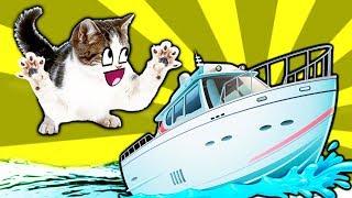 симулятор маленького котенка #4 ПОДВОДНЫЙ КОТЕНОК РЫБОЛОВ Купил Новую ЛОДКУ  детский летсплей #ФГТВ