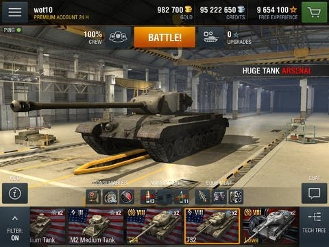 World Of Tanks Blitz IPhone/iPad GamePlay