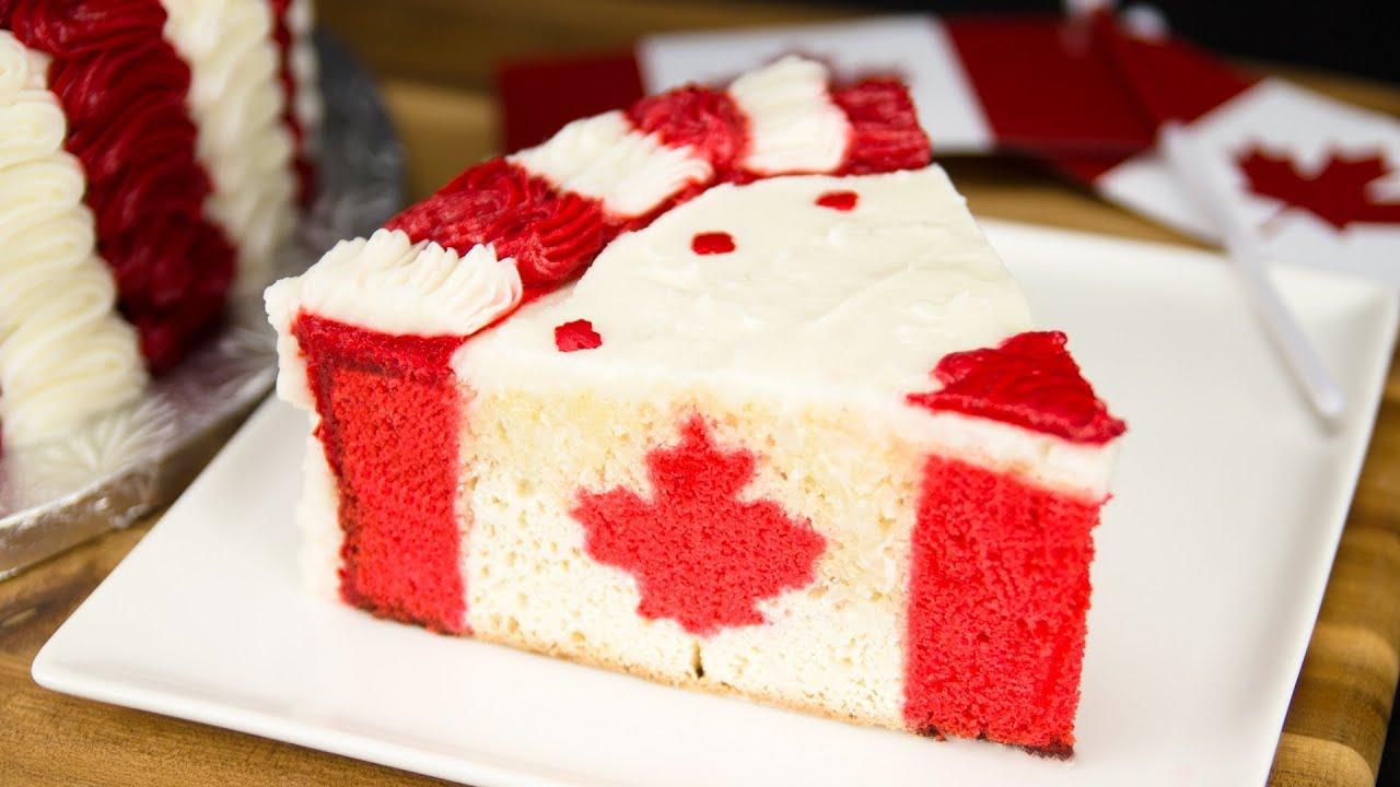 Canada Cake Us Flag