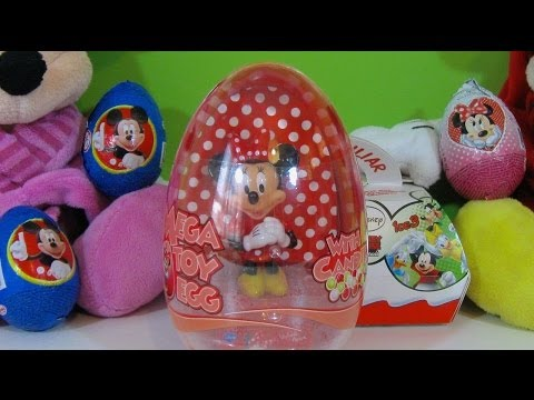 11 Huevos Sorpresa Disney Mickey Mouse. I love Minnie. Kinder Sorpresa y Mega Toy Egg