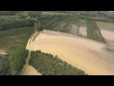 Images aériennes BFMTV des inondations dans l'Hérault