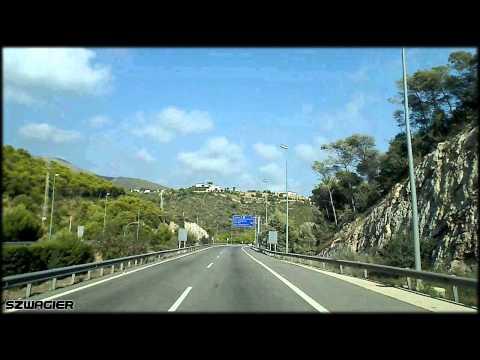 335 - Spain. Autopista de Pau Casals C-32 - Vallcarca - Casteldefels [HD]