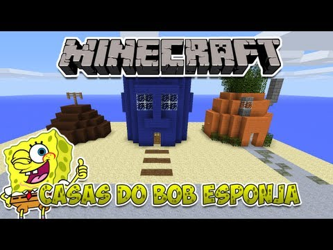 minecraft construindo as casas do bob esponja