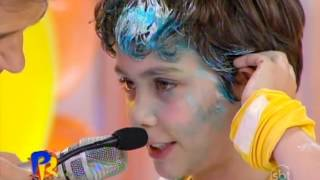 Domingo Legal (04/08/13) - Elenco de Chiquititas - Torta na Cara