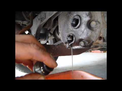 Changing the rear differential fluid on an 07 Impreza