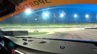 BimmerWorld Racing Eric Zimmermann BMW E90 328i Kansas Speedway Night Qualifying