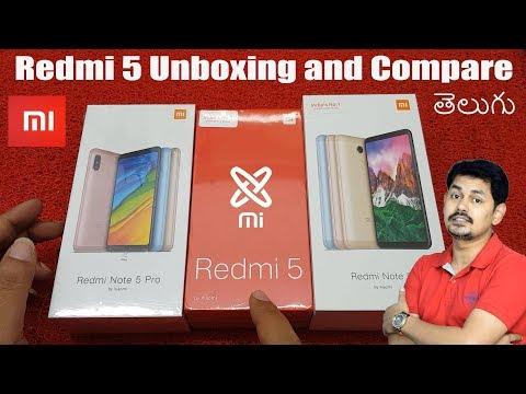 Redmi 5 Unboxing and Compare, Redmi Note 5, Redmi Note 5 Pro | in Telugu | Tech-Logic