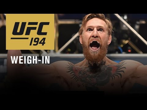UFC 194: Official Weigh-in