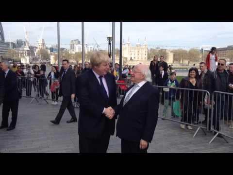 President Michael D Higgins meeting London Mayor Boris Johnson