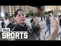 NATE DIAZ -- JOKINGLY CUSSES OUT KHABIB HECKLERS... Who Wants Some!?   TMZ Sports