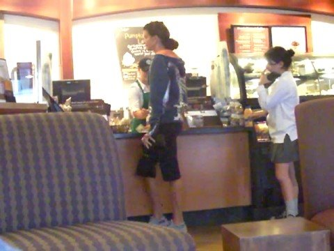 Janice Dickinson in Line at Starbucks - Brentwood,CA - 90049